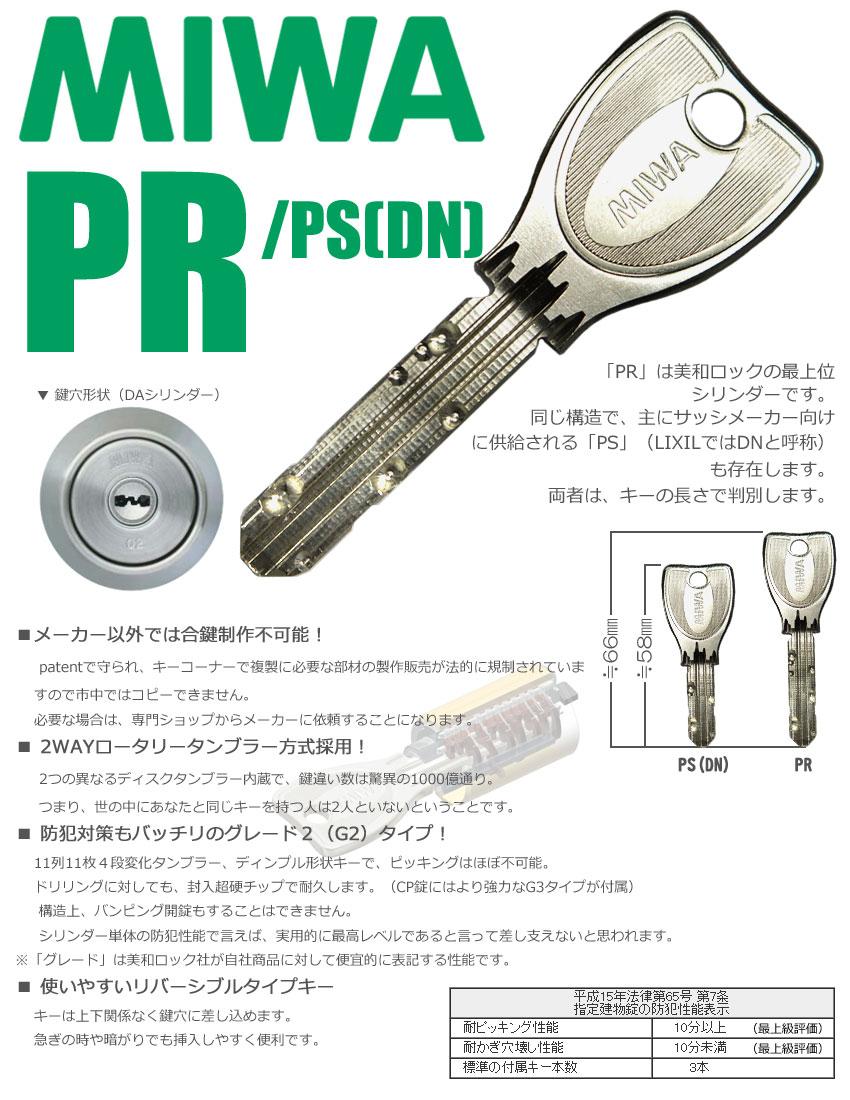 PR ND2R 面付本締錠(MIWA)